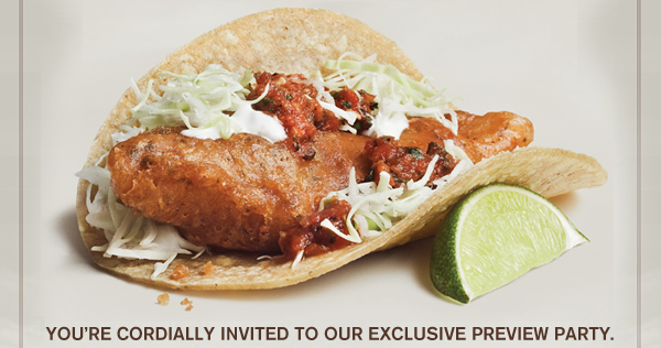 YOU'RE CORDIALLY INVITED TO OUR EXCLUSIVE PREVIEW PARTY.